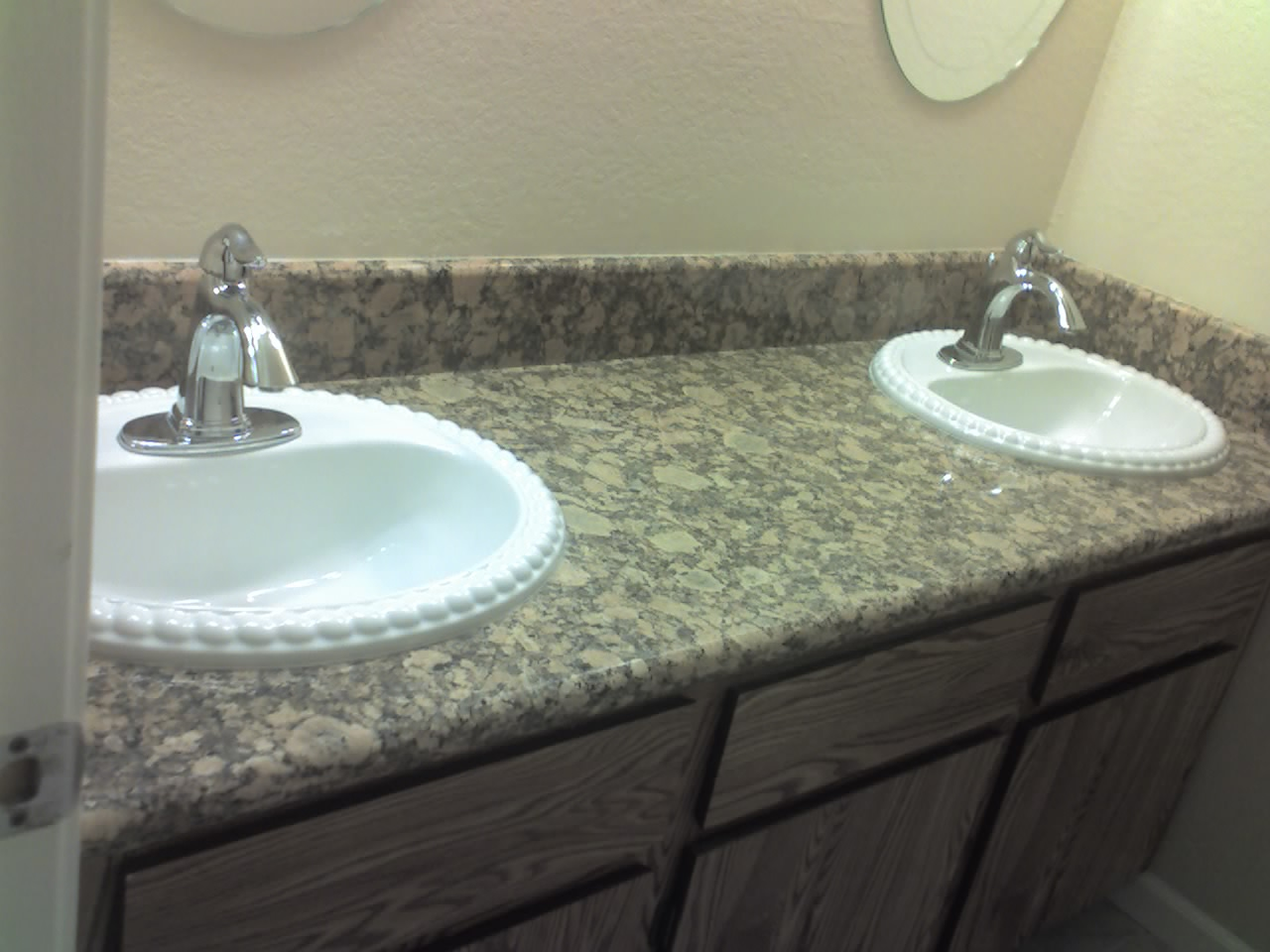 Granite Countertops bathroom double Sinks